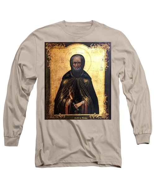 Russian Icon Long Sleeve T-Shirt by Victor Minca