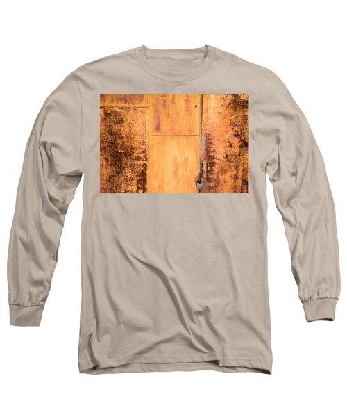 Rust On Metal Texture Long Sleeve T-Shirt by John Williams