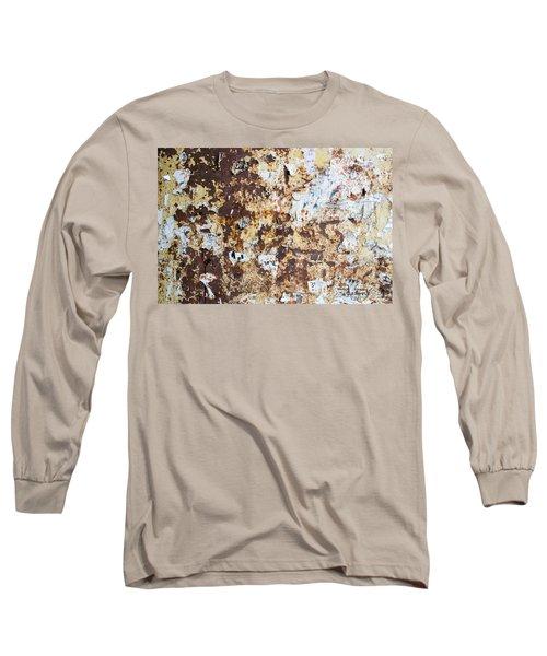 Rust Paper Texture Long Sleeve T-Shirt by John Williams