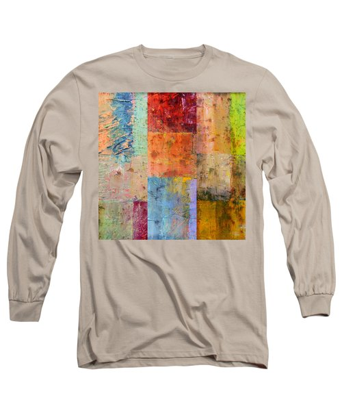 Long Sleeve T-Shirt featuring the painting Rust Study 2.0 by Michelle Calkins