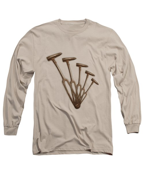 Rustic Hammer Pattern Long Sleeve T-Shirt by YoPedro