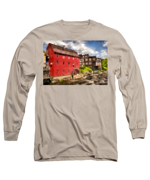 Rustic Historic Grist Mill Littleton, Nh Long Sleeve T-Shirt by Betty Denise