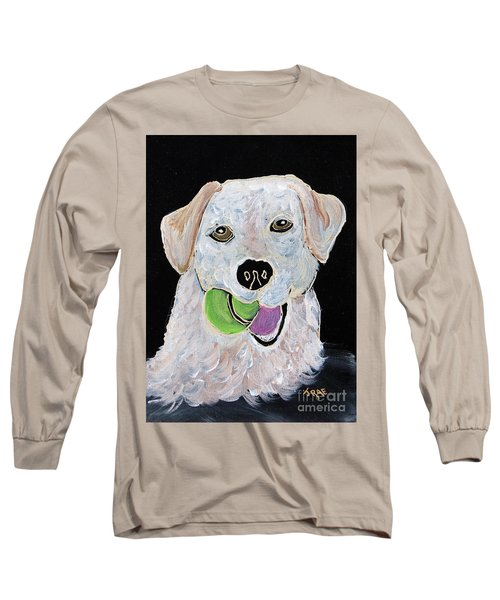 Long Sleeve T-Shirt featuring the painting Rusty On Canvas by Janice Rae Pariza