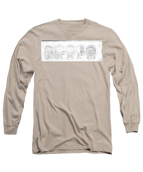 S-1a Cross Sections Long Sleeve T-Shirt