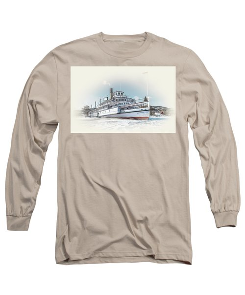 Long Sleeve T-Shirt featuring the photograph S. S. Sicamous II by John Poon