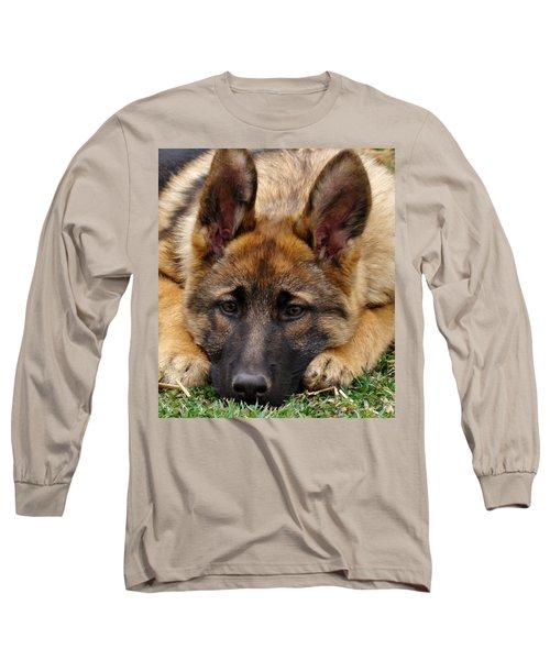 Sable German Shepherd Puppy Long Sleeve T-Shirt