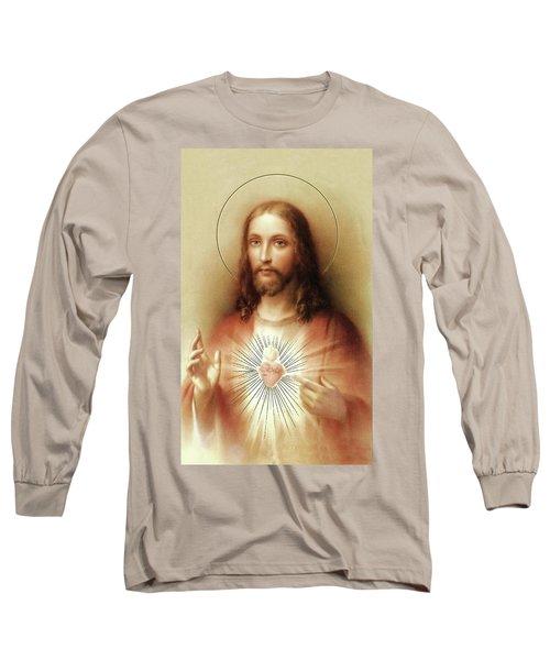 Sacred Heart Of Jesus Long Sleeve T-Shirt