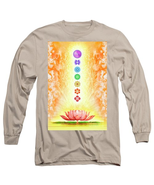 Sacred Lotus - The Seven Chakras Long Sleeve T-Shirt