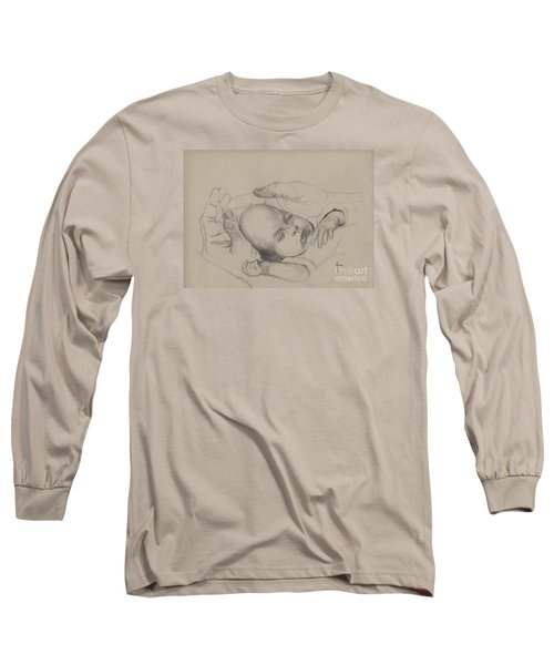 Long Sleeve T-Shirt featuring the drawing Safe by Annemeet Hasidi- van der Leij
