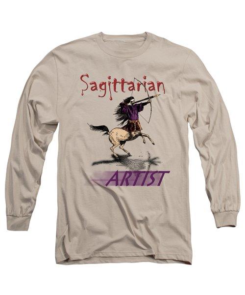 Sagittarian Artist Long Sleeve T-Shirt by Joseph Juvenal