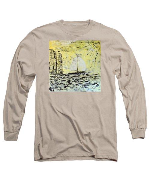 Sail And Sunrays Long Sleeve T-Shirt by J R Seymour
