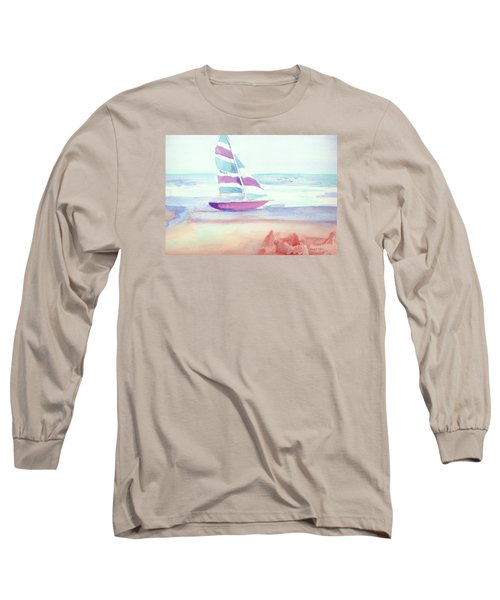 Long Sleeve T-Shirt featuring the painting Sail Away by Denise Fulmer