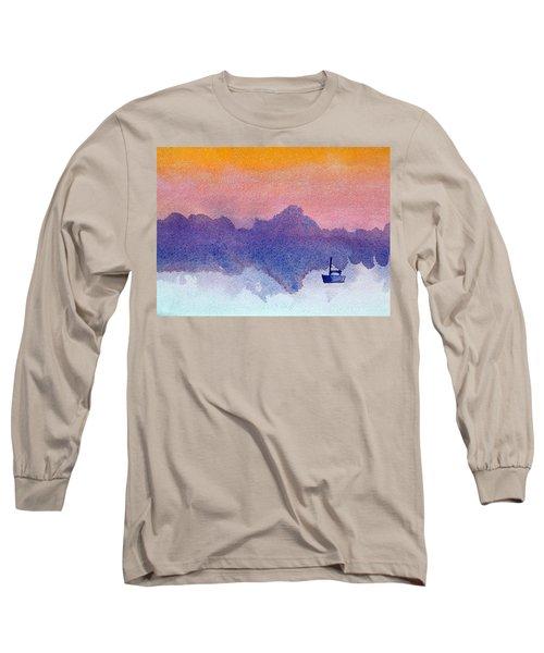 Sailboat At Dawn Long Sleeve T-Shirt