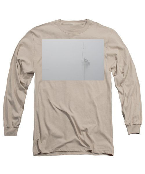 Sailboat In Fog Long Sleeve T-Shirt