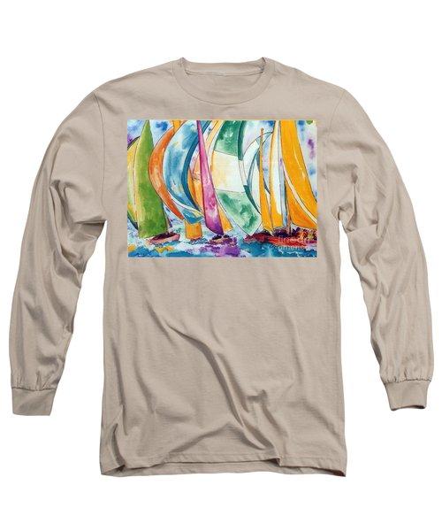 Sailboat Race Long Sleeve T-Shirt by Lisa Boyd