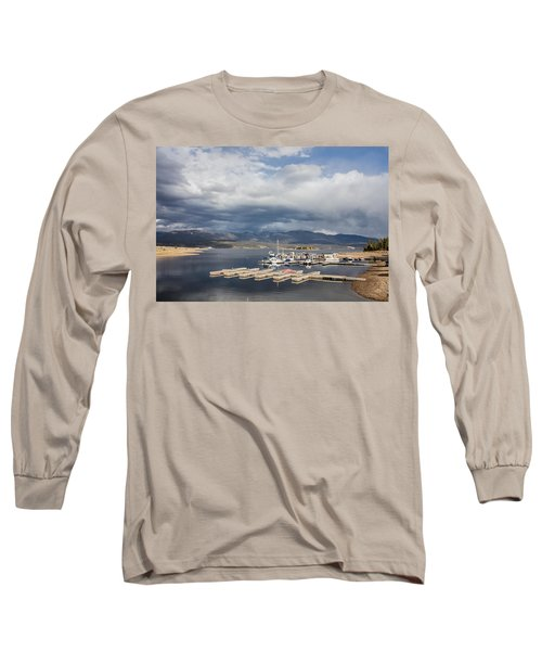 Long Sleeve T-Shirt featuring the photograph Sailboat Slips On Lake Granby In Grand County by Carol M Highsmith