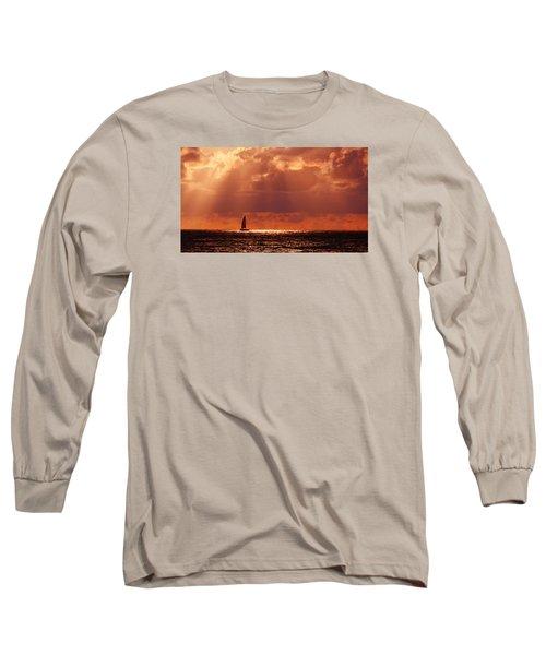 Sailboat Sun Rays Long Sleeve T-Shirt
