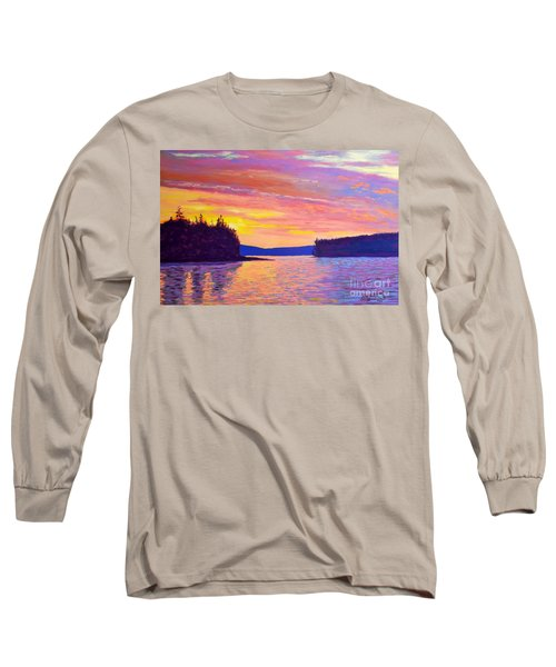 Sailing Home Sunset Long Sleeve T-Shirt by Rae  Smith