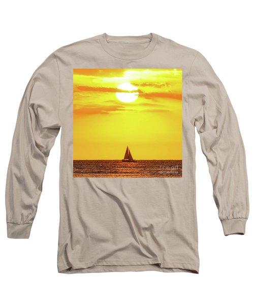 Sailing In Hawaiian Sunshine Long Sleeve T-Shirt