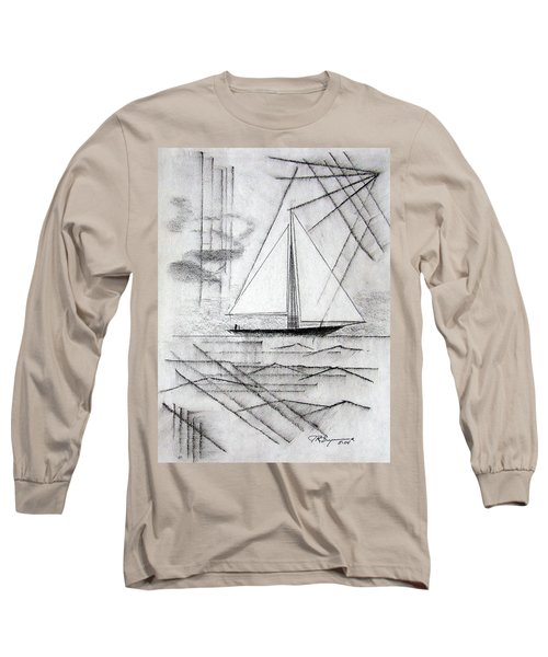 Sailing In The City Harbor Long Sleeve T-Shirt by J R Seymour