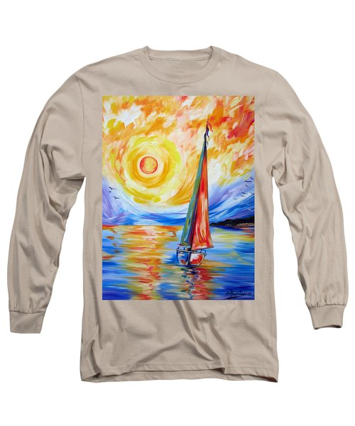 Sailing In The Hot Summer Sunset Long Sleeve T-Shirt