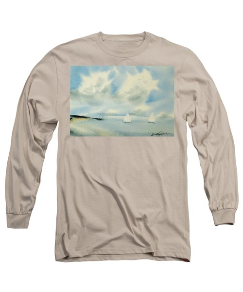Sailing Into A Calm Anchorage Long Sleeve T-Shirt