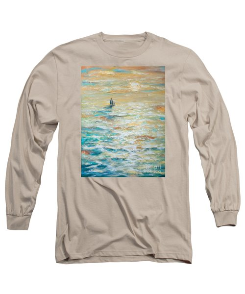 Sailing Into The Sunset Long Sleeve T-Shirt by Linda Olsen