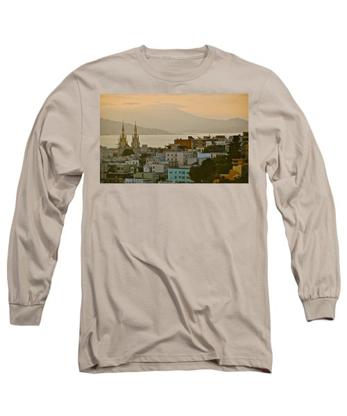 Saints Peter And Paul Spires Long Sleeve T-Shirt by Eric Tressler