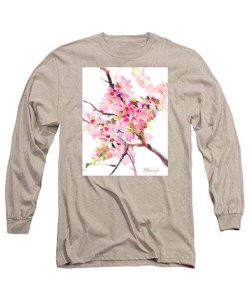 Sakura Cherry Blossom Long Sleeve T-Shirt by Suren Nersisyan