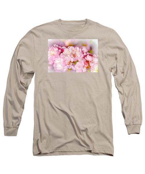 Long Sleeve T-Shirt featuring the photograph Sakura Cherry Flower - Wedding Bouquet by Alexander Senin