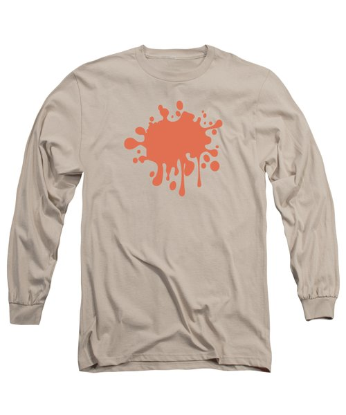 Salmon Color Accent Decor Long Sleeve T-Shirt