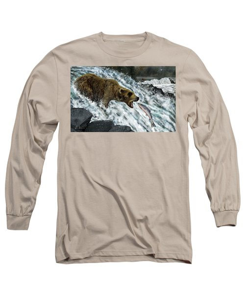 Salmon Fishing Long Sleeve T-Shirt