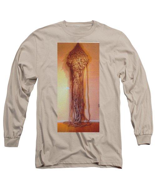 Long Sleeve T-Shirt featuring the sculpture Salome by Bernard Goodman