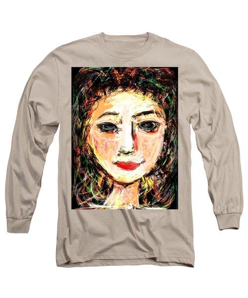 Long Sleeve T-Shirt featuring the digital art Samantha by Elaine Lanoue