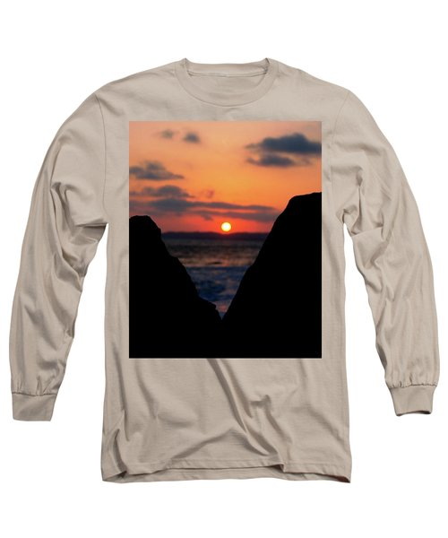 San Clemente Beach Rock View Sunset Portrait Long Sleeve T-Shirt