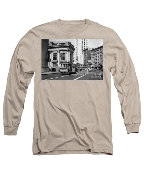 San Francisco Cable Car During Wwii Long Sleeve T-Shirt