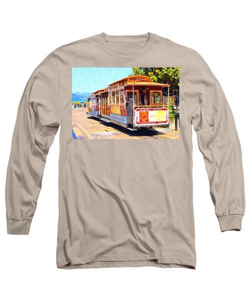 San Francisco Cablecar At Fishermans Wharf . 7d14097 Long Sleeve T-Shirt