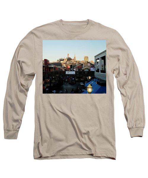 San Francisco In The Sun Long Sleeve T-Shirt by Tony Mathews