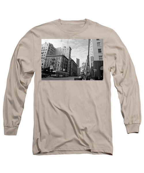 San Francisco - Jessie Street View - Black And White Long Sleeve T-Shirt
