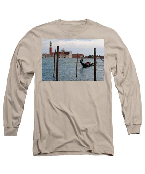 Long Sleeve T-Shirt featuring the photograph San Giorgio Maggiore Gondola by Robert Moss