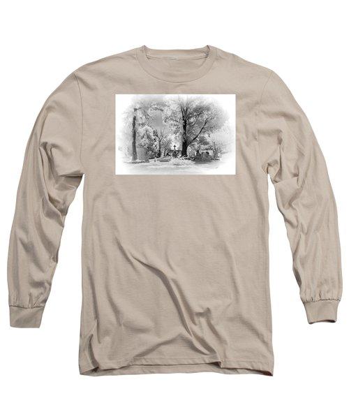 Long Sleeve T-Shirt featuring the photograph San Jose De Dios Cemetery by Sean Foster
