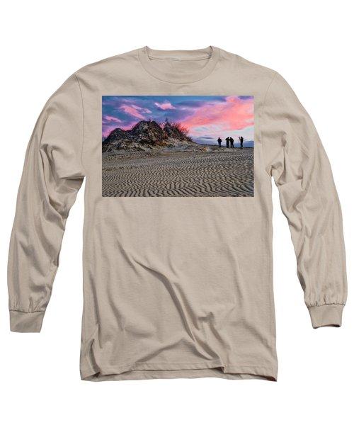 Sand Dunes Of Kitty Hawk Long Sleeve T-Shirt