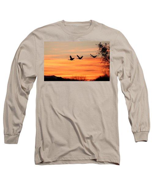 Sandhill Sunrise Long Sleeve T-Shirt