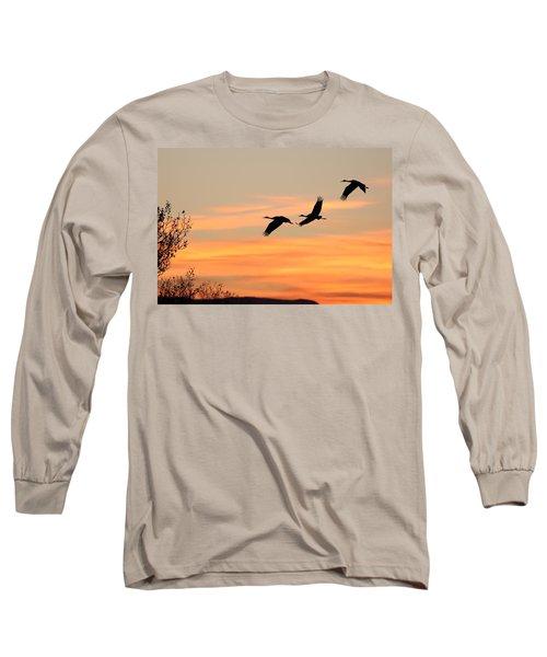 Sandhill Sunrise Three Long Sleeve T-Shirt