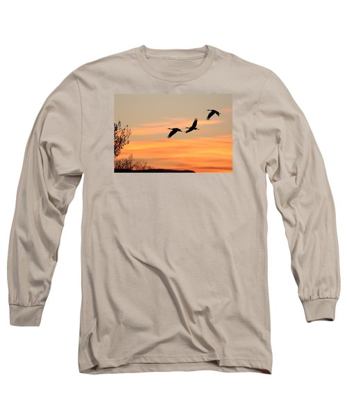 Sandhill Sunrise Three Long Sleeve T-Shirt