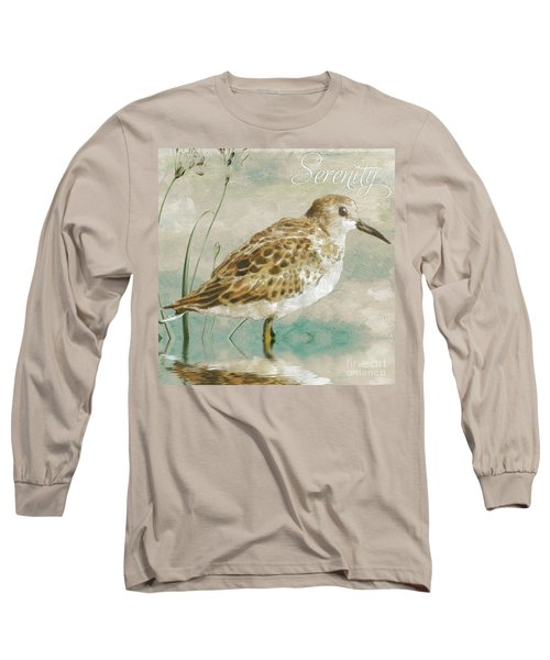 Sandpiper I Long Sleeve T-Shirt by Mindy Sommers