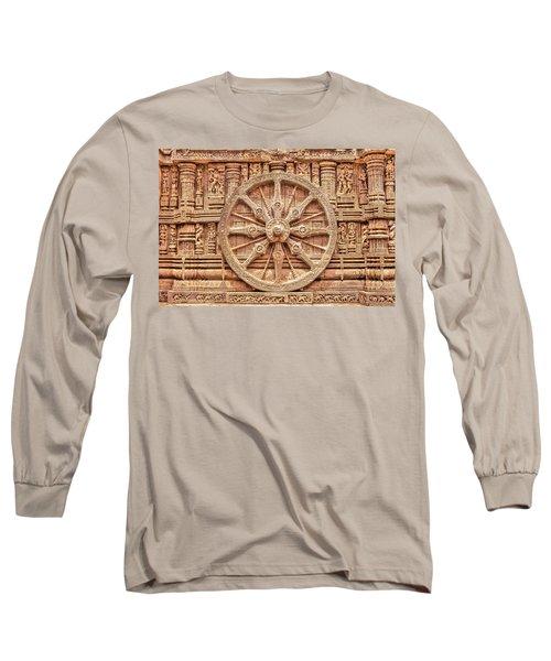 Sandstone Wheel - Hdr Long Sleeve T-Shirt