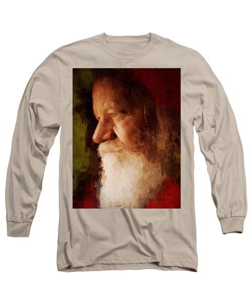 Santa Long Sleeve T-Shirt by Lisa Noneman