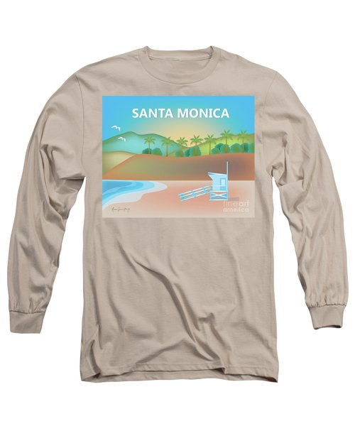 Santa Monica California Horizontal Scene Long Sleeve T-Shirt