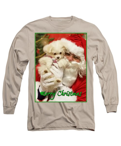 Santa Paws  Long Sleeve T-Shirt by Darren Robinson